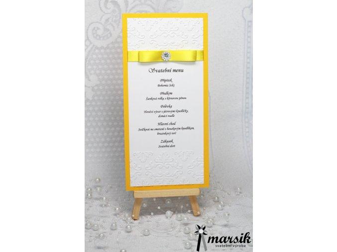 Svatební menu YELLOW