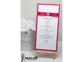 Svatební menu FUCHSIA FLOWERS