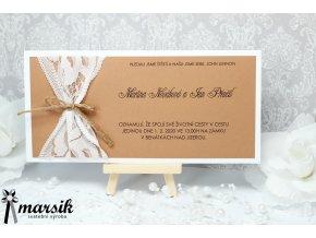 Svatební oznámení LACE RUSTIC