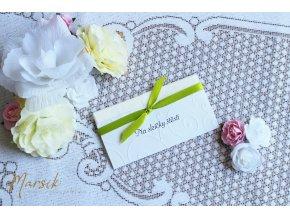 Svatební kapesníček GREEN FLORAL