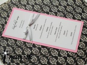Svatební menu SILVER BOWS